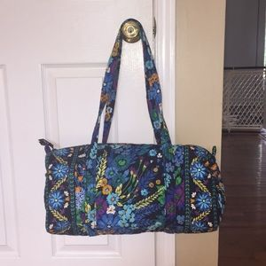 Vera Bradley midnight blue small duffel bag